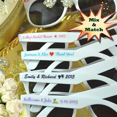 Custom Sunglasses Wedding Favors   FREE Assembly & FREE