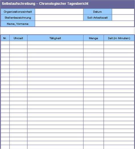 Tabellarischer Tagesbericht Vorlage Organisationshandbuch Praxisbeispiele