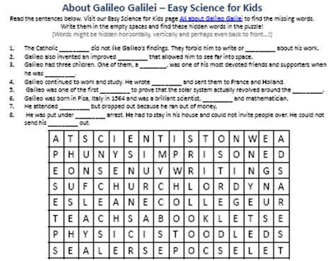 george orwell biography worksheet image of free galileo galilei worksheet easy science for