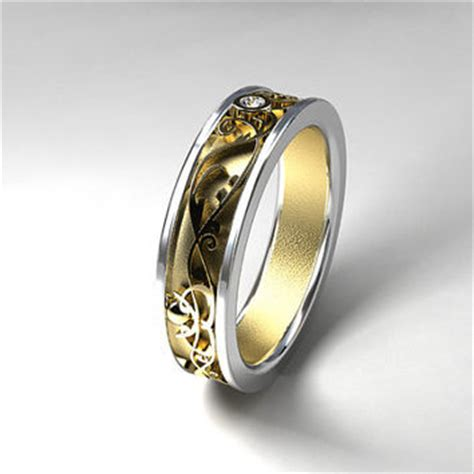 shop unique wide band wedding rings on wanelo