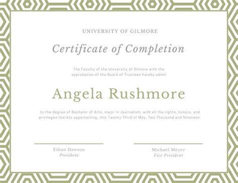 canva certificate school certificate templates canva