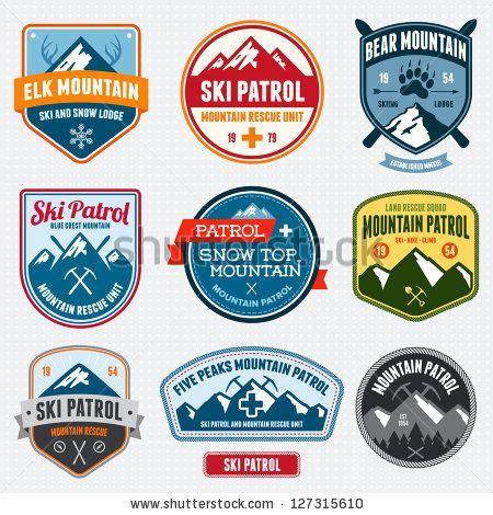 Bordir Patch Emblem Badgr Mcdonald set of ski patrol mountain badges and logo patches by mike mcdonald via