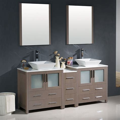 "Affordable Variety Fresca Torino 72"" Gray Oak Modern"