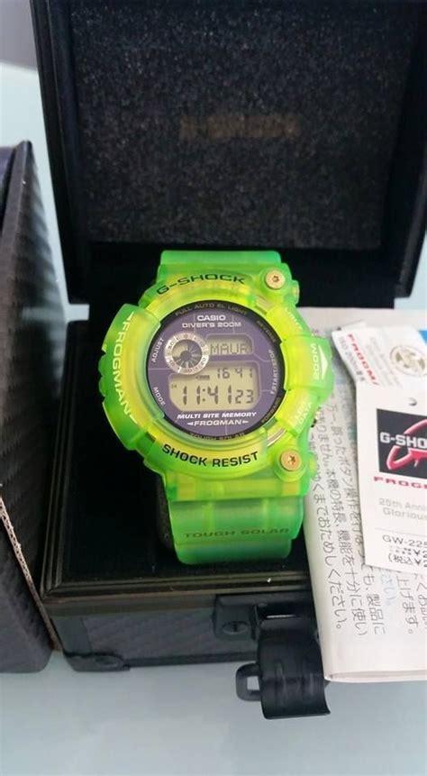 G Shock Dw 6900 Green Transparan live photos g shock transparent frog gw 225e 7jf
