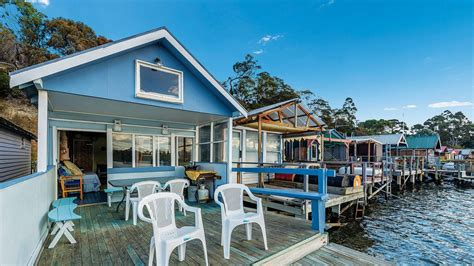 sam s boat shed iconic boat sheds in tasmania s cornelian bay on the market