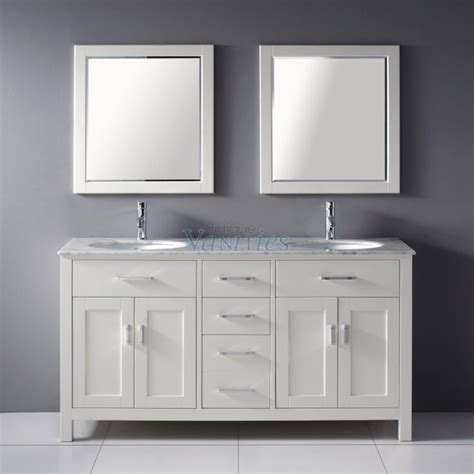 Dual Sink Bathroom Vanity 63 Inch Sink Bathroom Vanity With Marble Top In White Uvabxkawh63