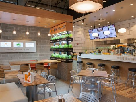 Fast Casual Kitchen Layout by Best Healthy Fast Food Restaurant Chains Food Network