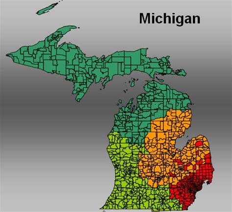 michigan area code map michigan postal code map michigan map