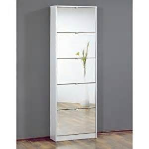Tall Mirrored Shoe Cabinet Tall Mirrored White Shoe Cabinet With Five Drawers 3614