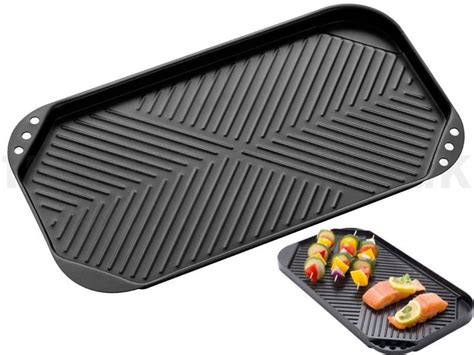 Hob Cooktop Twin Hob Grill Plate Non Stick Healthy Low Cooking Fry