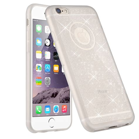 Shining Iphone 6 6s 6 Plus Silicone Tpu Clear Soft Thin Cover מוצר glitter powder soft silicone tpu for iphone 6