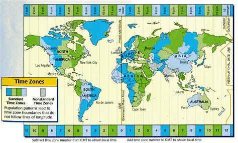 Times Zones Map by Time Zone Map With Times Www Galleryhip Com The