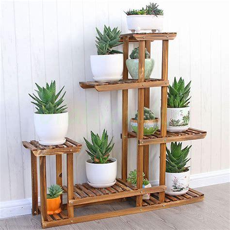 Heavy Duty Wood 5tier Plant Stand Shelf Indoor Outdoor Indoor Plant Shelves