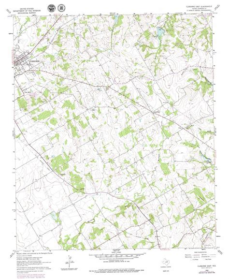 cleburne texas map cleburne east topographic map tx usgs topo 32097c3