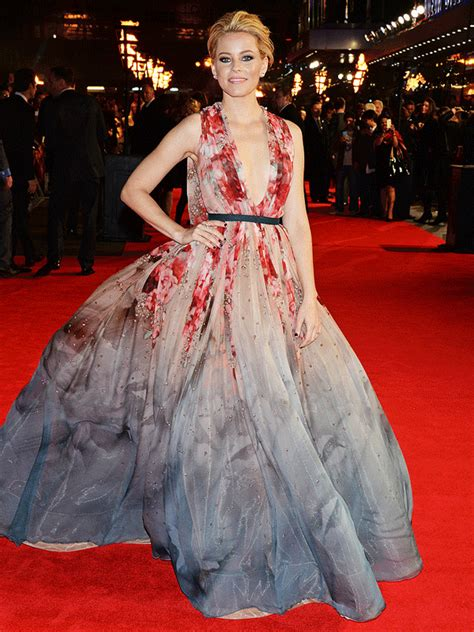 Gamis Elizabeth photos elizabeth banks elie saab couture dress mockingjay