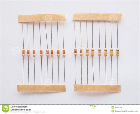 will resistor reduce voltage passive resistor stock photo image 43345333