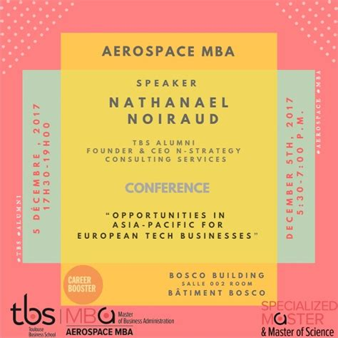 Mba Tech Conference 2017 by Conference Dec 5 2017 Career Booster Aerospace Mba