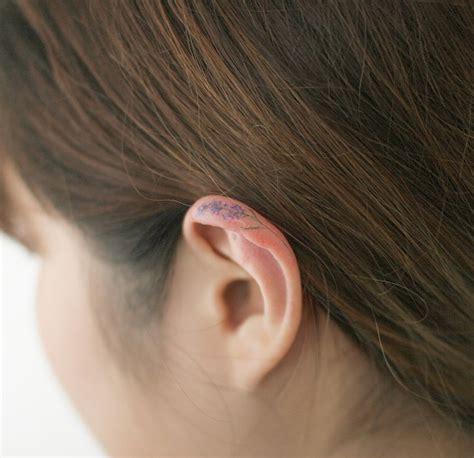 orchid tattoo behind ear 191 buscas ideas de tatuajes para las orejas aqu 237 van