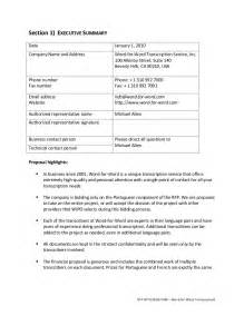 rfp for architectural services template rfp sle request for