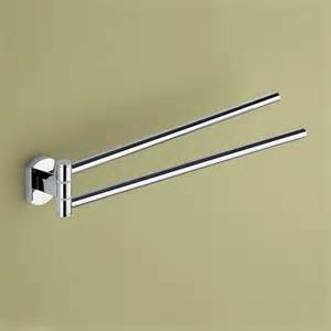 chrome swivel towel bar by gedy modern towel bars and