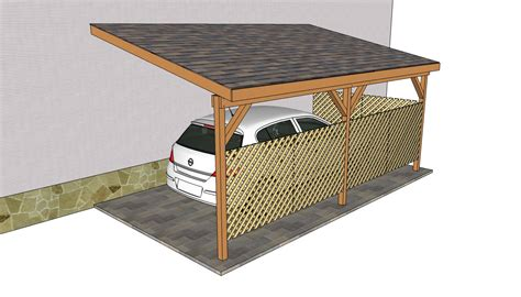 Attached Carport Building Plans by Attached Carport Plans Myoutdoorplans Free Woodworking