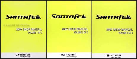best auto repair manual 2007 hyundai santa fe transmission control 2007 hyundai santa fe repair shop manual 3 volume set original
