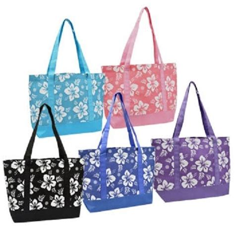 Totebag Flowly Flower luau hibiscus flower tote bag us seller ebay