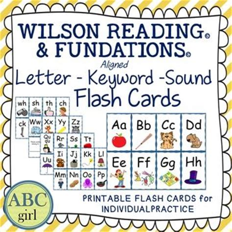printable fundations alphabet flash cards wilson reading and fundations aligned sound cards