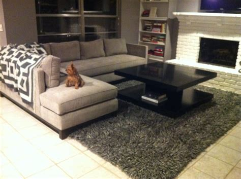 rug placement sectional sofa rug crumpet sofa crumpets clic and gy rug thesofa