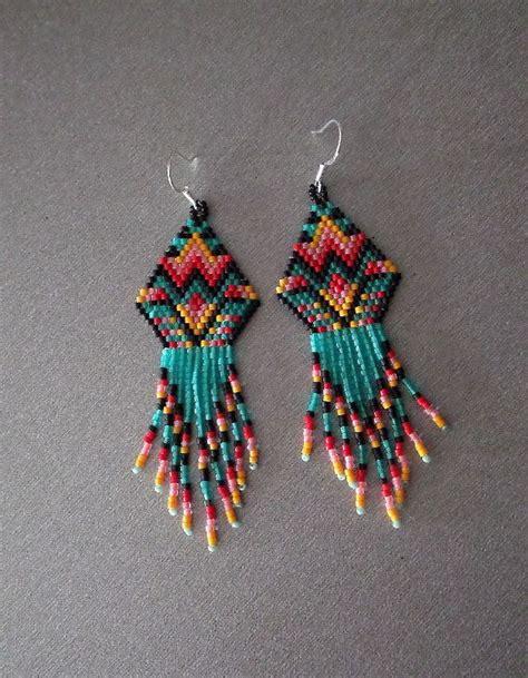 delica beaded earrings 598 best beaded earrings images on beaded