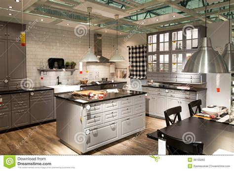 kitchen in furniture store ikea editorial image image of