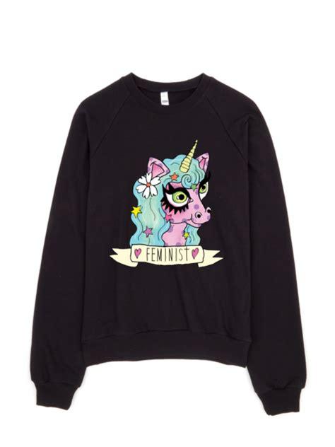 Unicorn Sweatshirt feminist unicorn sweatshirt 183 joanna thangiah 183