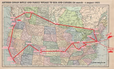 tomtom map usa and canada file map 1923 usa canada jpg the arthur conan doyle