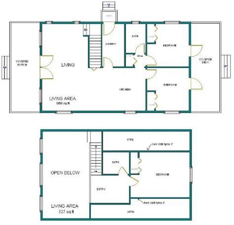 24x40 Cabin W Loft Plans Package Blueprints Material