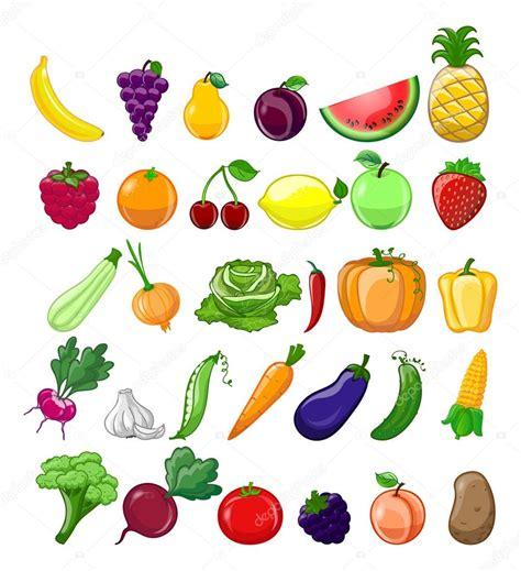imagenes animadas de frutas y verduras dibujos animados de frutas y verduras vector de stock