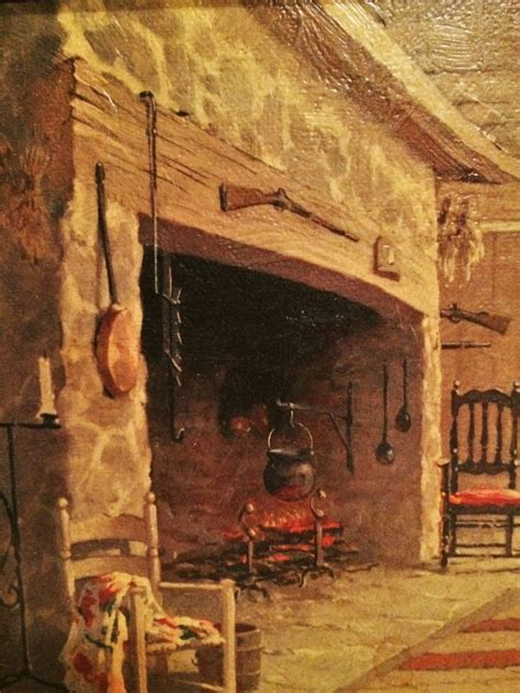 Colonial Kitchen Ideas Log Cabin Hearth Colonial Fireplace Kitchen Keeping Room