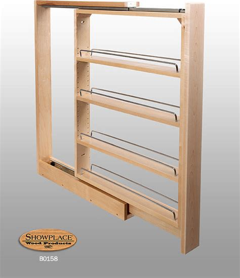 diy pull out spice rack cabinet base slim pull out rack showplace cabinets traditional