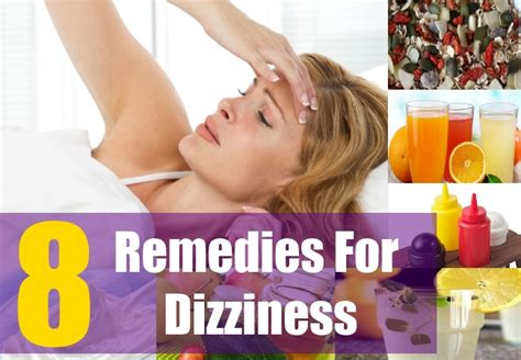 8 home remedies for dizziness treatments cure