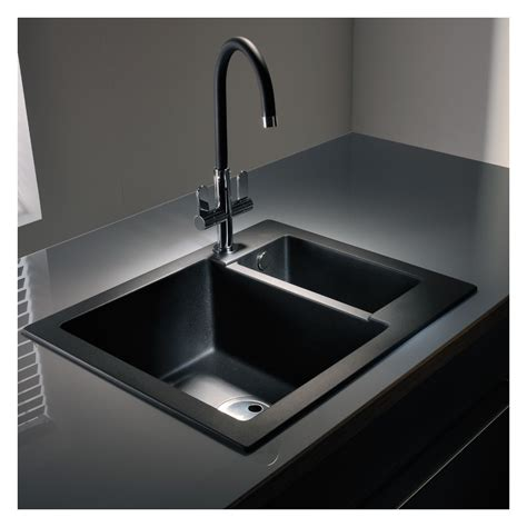 Abode Zero 1 5 Bowl Granite Sink Without Drainer Sinks Kitchen Sink Drainers