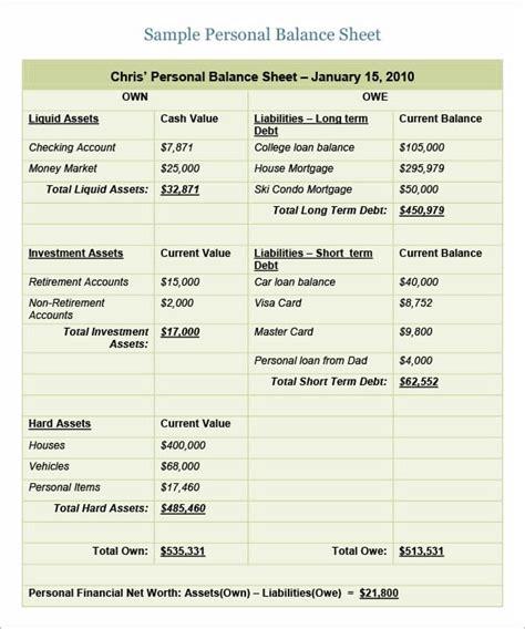 6 Free Balance Sheet Templates Excel Pdf Formats Balance Sheet Template Word