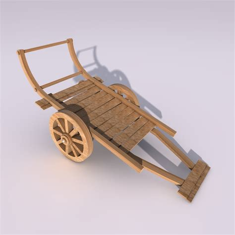 chariot wagen 3ds wooden wagon cart chariot