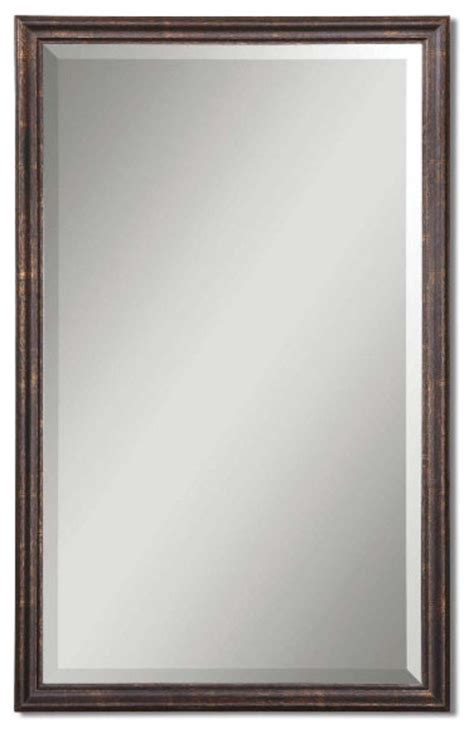 distressed bathroom mirror uttermost distressed bronze renzo mirror traditional