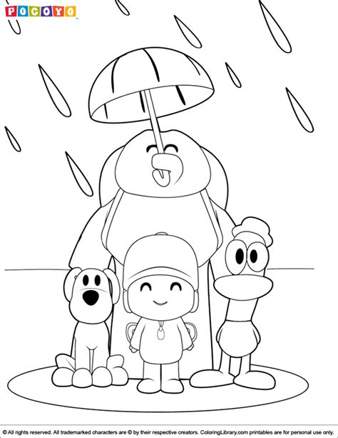 Pictures Of Pocoyo Coloring Home Pocoyo Coloring Pages