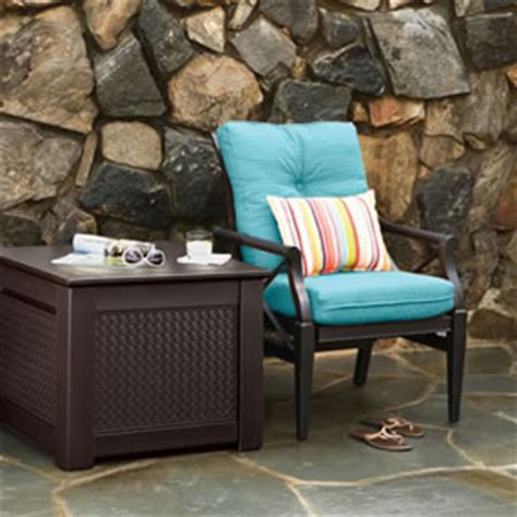 rubbermaid patio chic outdoor storage trunk