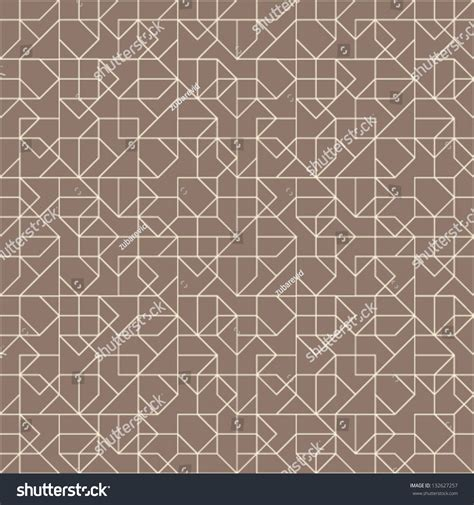 Brown Geometric Pattern | abstract geometric seamless pattern brown white stock