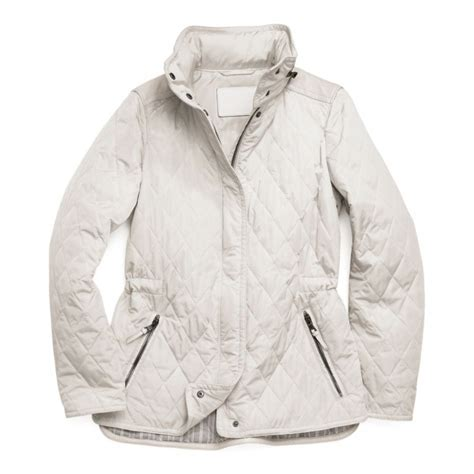 Coach Quilted Jacket Womens by Coach Classic Legacy Quilted Jacket In White Lyst