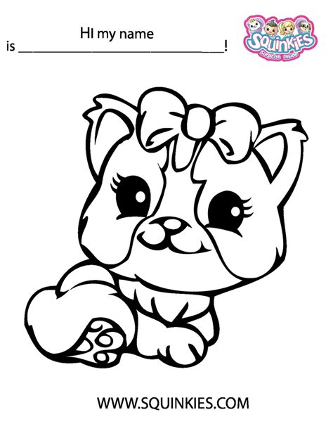 Squinkies Coloring Page Squinkies Activities Squinkie Coloring Pages