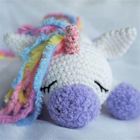 pattern crochet unicorn sleeping unicorn pony crochet pattern amigurumi today