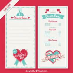 valentines day menu template day menu template vector free