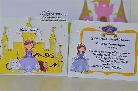 Sofia The Baby Shower by Disney Princess Sofia The Invitations Jingvitations